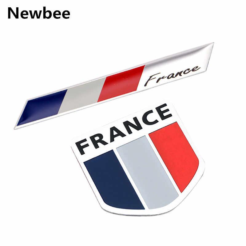 Newbee 3D アルミ車のエンブレムフランス地図国旗グリルバッジ JDM ステッカーオートバイシトロエンプジョーためベンチュリ