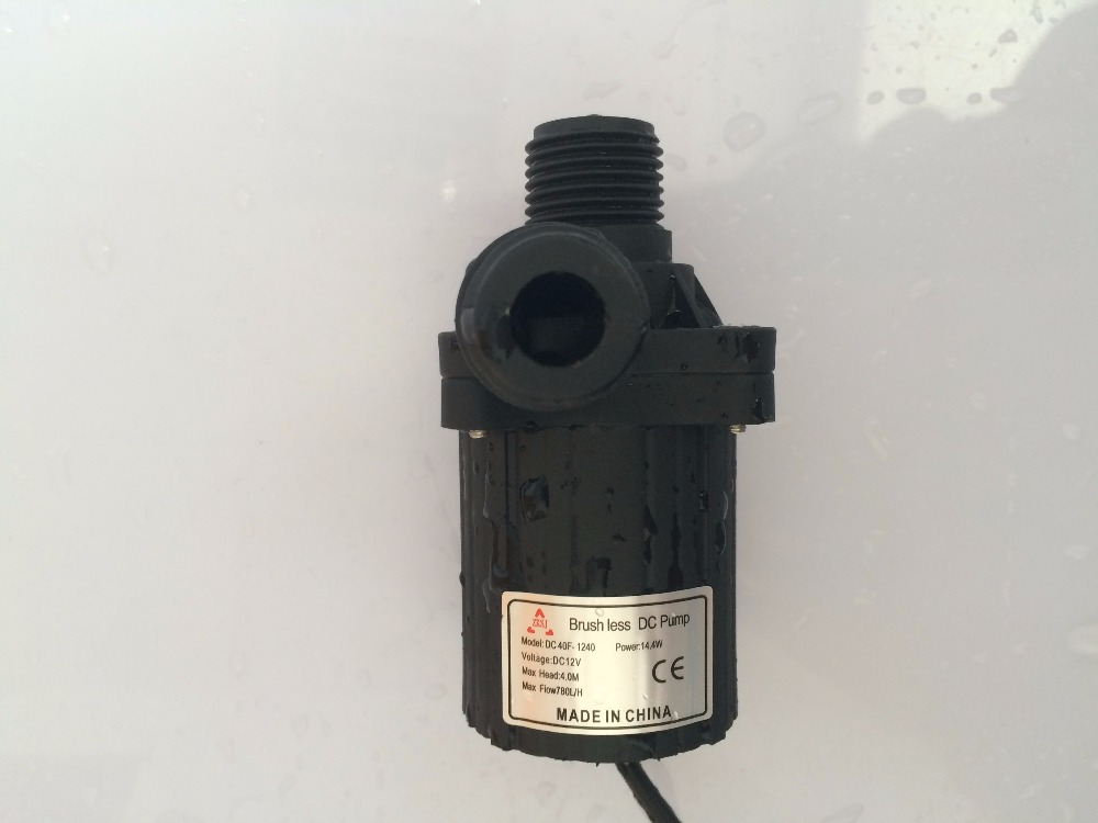 3pcs/ Lot 12V DC Mini Water Pump 40F 1240 780LPH 4M For Water Circulation Aquarium Submersible Pump Low noise