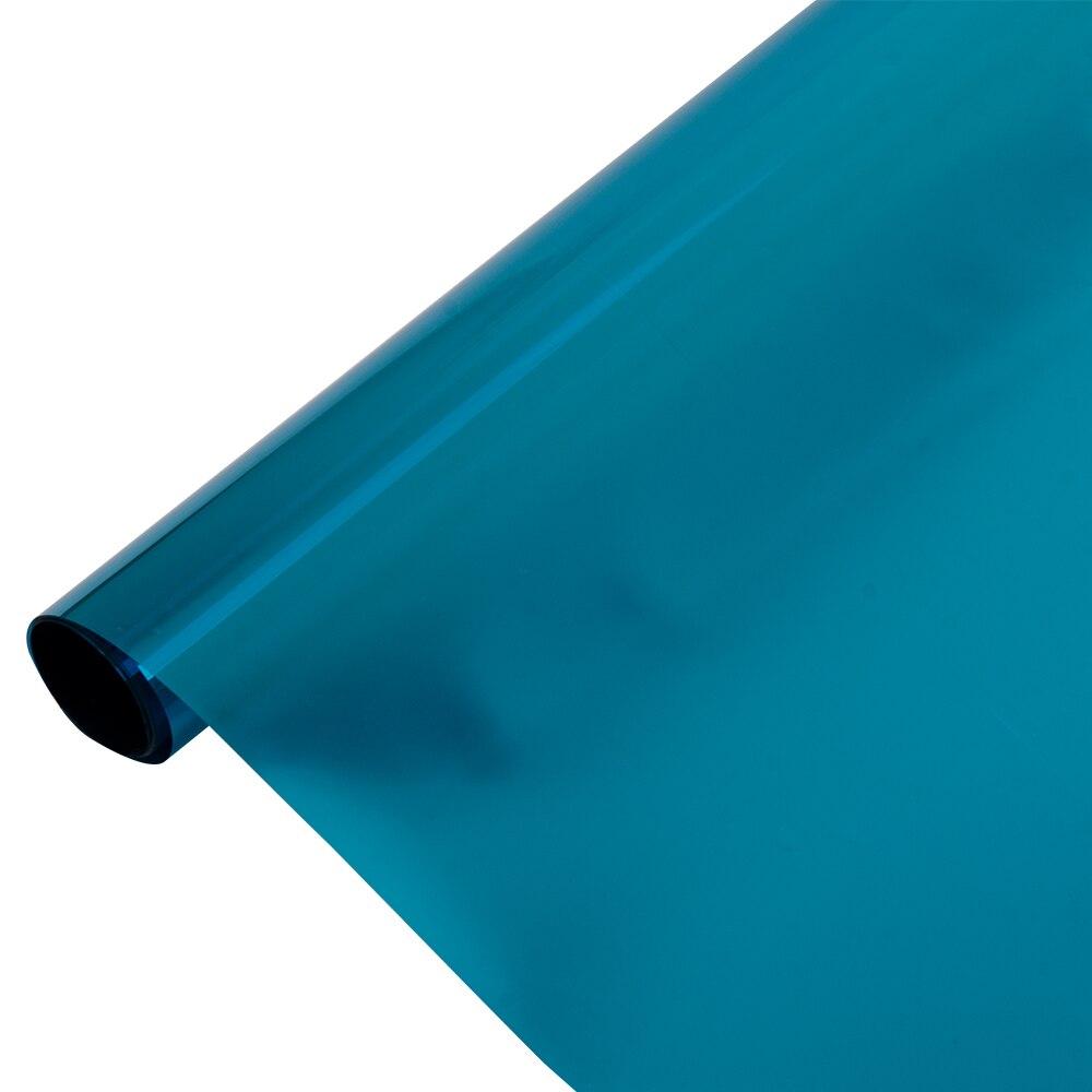 HOHOFILM 1.52x30m Rolo Azul & Silver Solar Janela Matiz Filme À Prova de Calor de Uma Forma Reflexiva Home Office matiz 60''x100ft