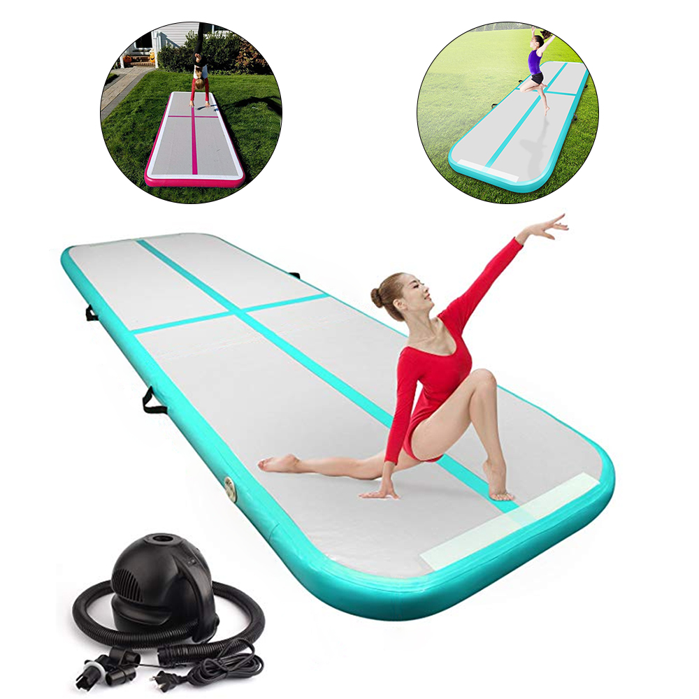 Inflatable Gymnastic Airtrack Tumbling Yoga Inflatable Mattress Trampoline Home Use Gymnastics Training Taekwondo Cheerleading цена