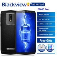 Blackview P10000 Pro Smartphone 5.99 incell FHD MTK6763 Octe Core 11000mAh 4GB 64GB 16MP Dual Cams Android 7.1 4G Mobile phone