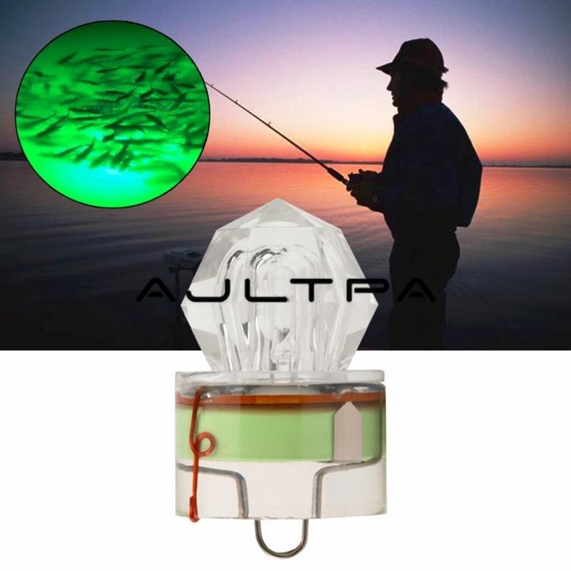 LED Deep Drop Underwater Diamond Fishing Flashing Light Bait Lure Squid Strobe Ultra-Transparent Acrylic Shell ZJ0216