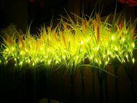 70 см 27.5 LED подсветка завод Пшеницы Золотой свет Крытый открытый для рождественской вечеринки Свадебные патио усадьба вилла газон Декор