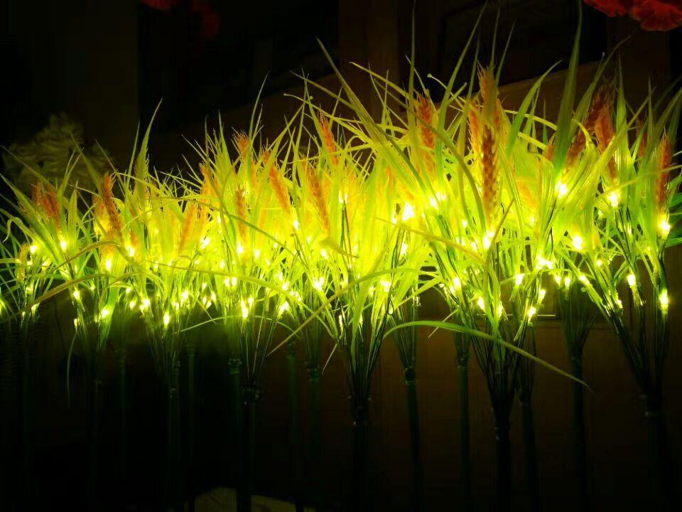70CM 27.5 LED lighted plant wheat golden light Indoor outdoor Christmas Party Wedding garden patio manor villa lawn Decor