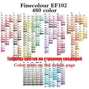 Image 5 - 480 Colors Finecolour Profession Art Markers Pen Artist Dual Head Permanent Markers Sketch Set Soft Brush Pen Drawing