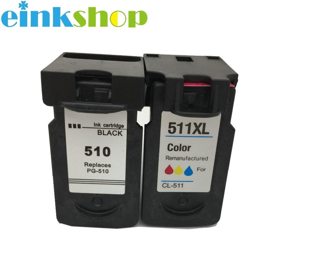 Einkshop pg 510 cl 511 Ink Cartridge For canon PG 510 cl 511 Pixma mp240 mp250 mp260 mp270 MP280 MP480 IP2700 print pg510 cl511
