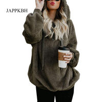 JAPPKBH Plus Size Autumn Winter Hoodie Sweatshirt Women New Casual Long Sleeve Sweatshirt Female Loose Plush Women Hoodies 5XL