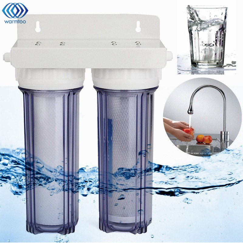 Water Purifier Housing Carbon + Sediment Cartridges Water Filter System Home Reverse Osmosis Filtration Household hot household water purifier activated carbon reverse osmosis refrigerator ice