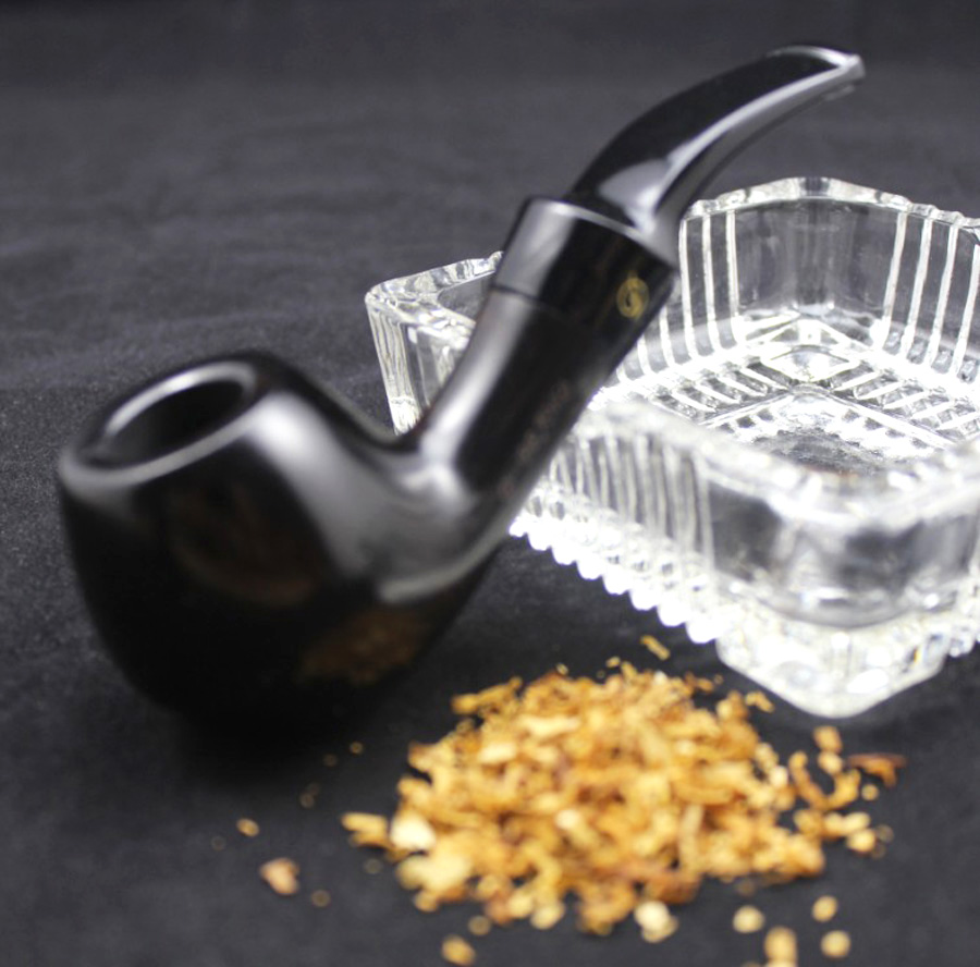 Image 2 - 16 Tools Elegant Men Handmade Ebony Wood Smoke Tobacco Smoking Pipe High Quality Wooden Pipe Set 9mm Pipe Filter 482y-in Tobacco Pipes & Accessories from Home & Garden