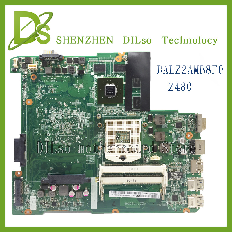 все цены на For Lenovo Z480 DALAZ2AMB8F0 REV:F laptop motherboard Z480 for lenovo new original motherboard 100% tested онлайн