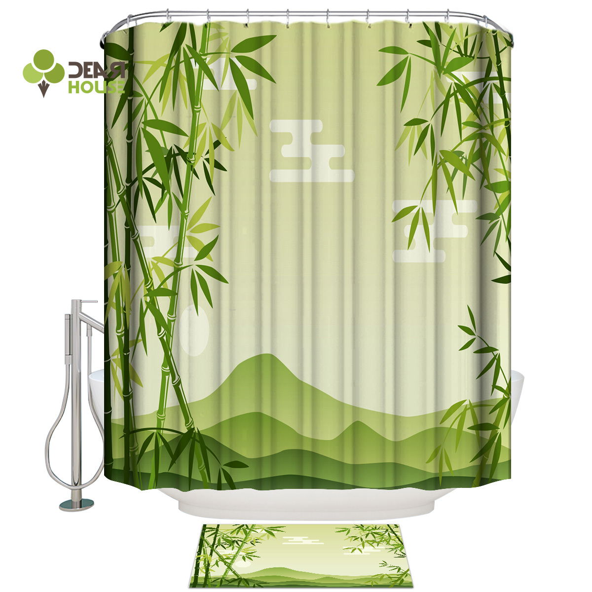 Dearhouse Chinese Style Of Green Bamboo