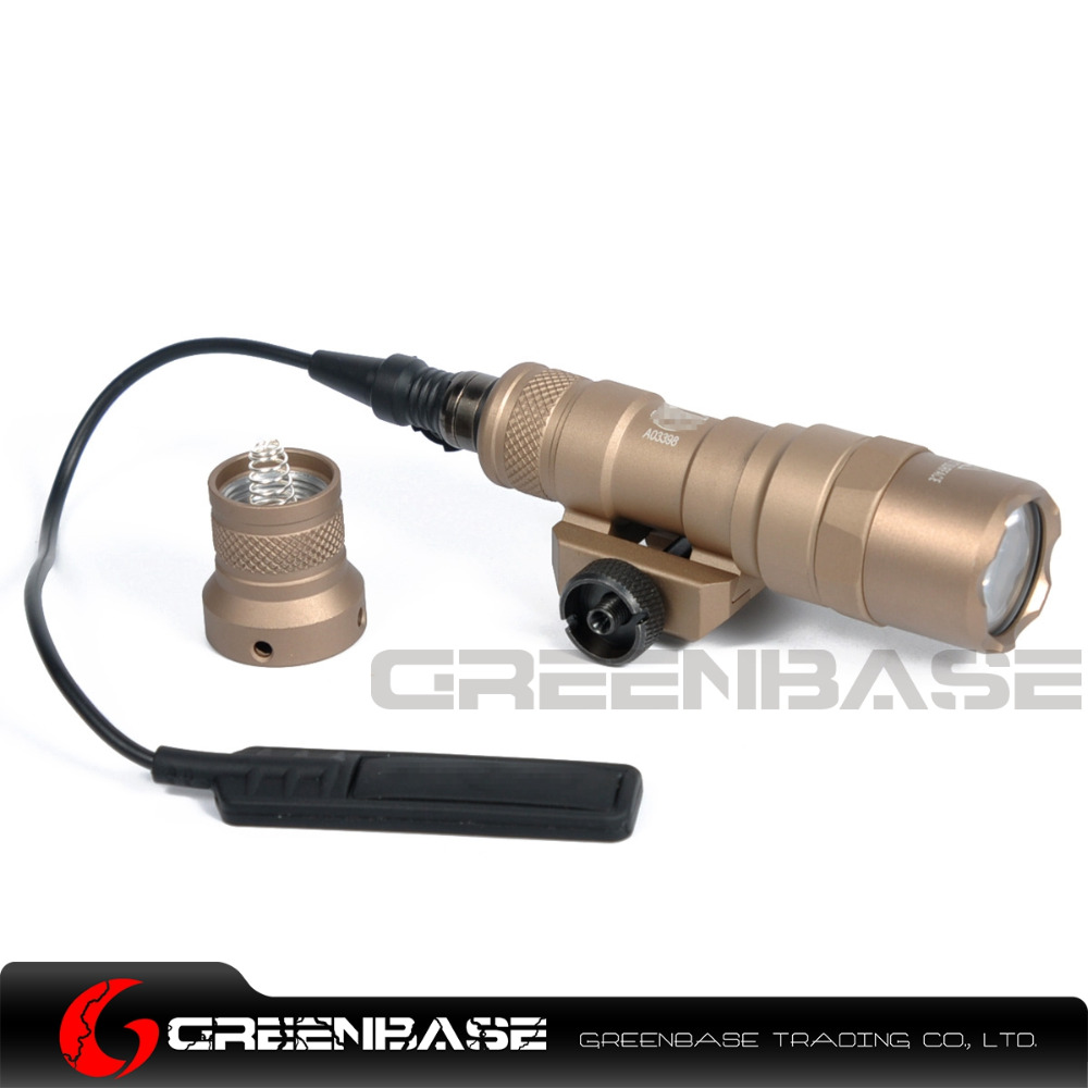 Greenbase SF M300 Tactical LED Light M300B Mini Scout Light Constant / Momentary 2 Modes 400 Lumens White Light Output 20mm Rail