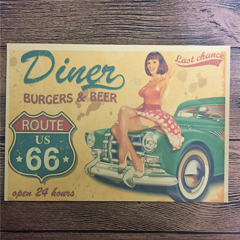 """Direct Selling DC 052 Vintage Home Decor Poster """"Burgers"""