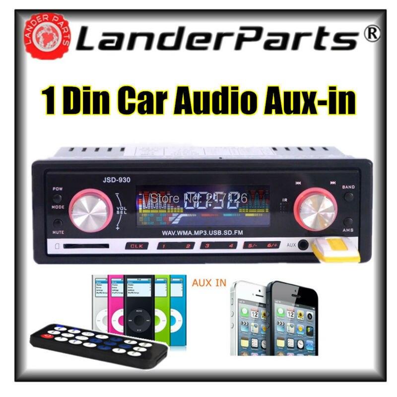 ФОТО 2015 new 12V Car Stereo car Radio MP3 Audio Player USB/SD card /MMC Port Car Electronics In Dash 1 DIN size car radios Aux in