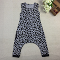 Baby Summer Harem Rompers Boys Girls Summer Cotton Leopard Jumpsuit Kids Fashion Cute Playsuits Children Overalls 2017 New D37