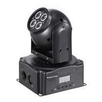 LED Stage Light Mini Wash Moving Head Lights 4x10W RGBW 4in1 With DMX 512 For Indoor