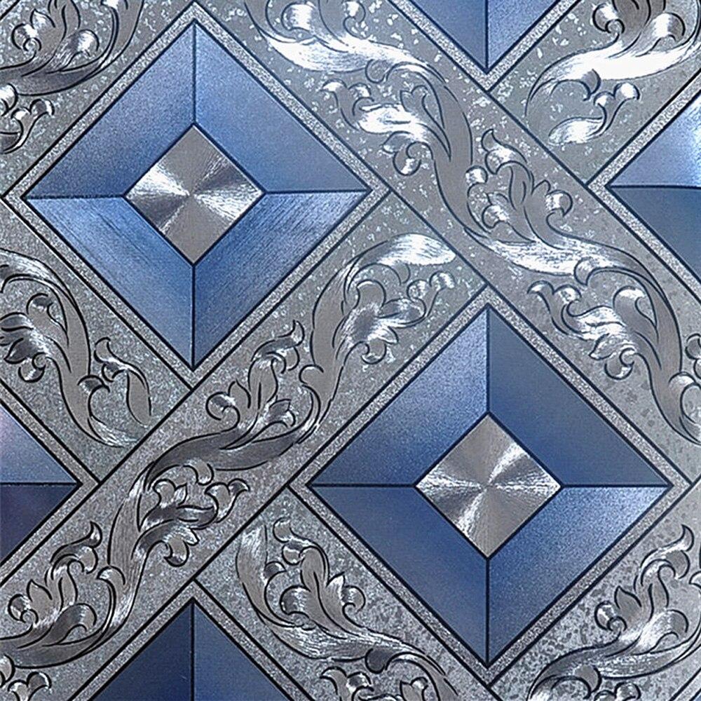 Lattice Wallpaper: Q QIHANG Modern Luxury Gold Foil Mosaic Square Lattice