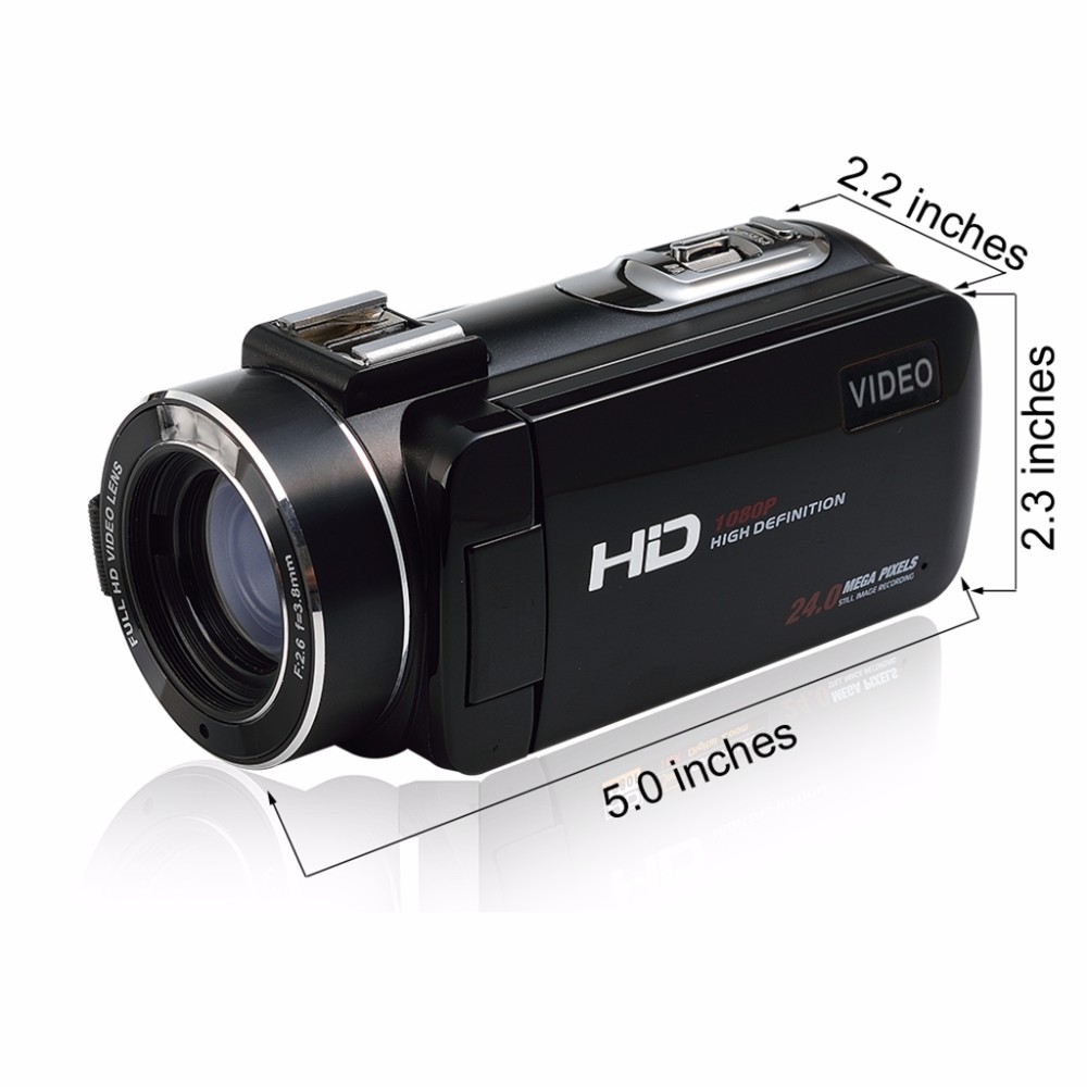 Marvie Mini Portabel WIFI Camcorder FHD 1080p@30 FPS Max 24.0 MP 16X Digital Zoom External Microphone Video Recorder DV 5