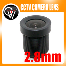 New 2.8mm lens 115 Degrees Fixed Board lens Camera lens For CCTV Security Camera Free Shipping