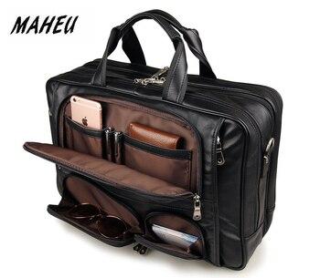 868cc506dc28 Мэхью черный Для мужчин кожаные Портфели дорожные сумки для ноутбуков ручка  Официальный Бизнес сумки на колесах Мужская сумка Сумка