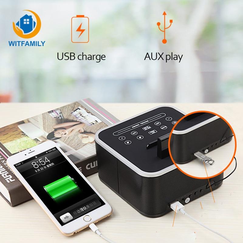Metall Drahtlose Bluetooth Wecker Digital FM Radio LCD Subwoofer despertador Stimme Anrufe Moderne elektronische uhr tisch Home - 4
