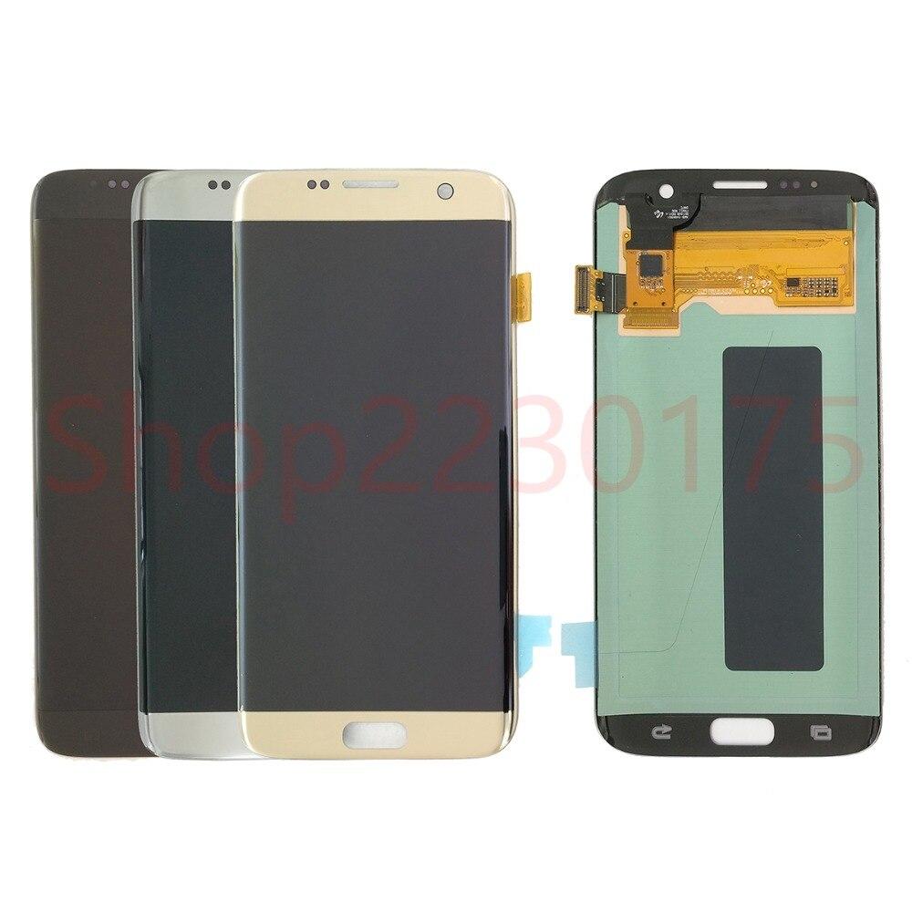 Pour Samsung Galaxy S7 Bord G935F G935A G935FD Super AMOLED Écran LCD Écran Tactile Digitizer Assemblée Pièces De Rechange
