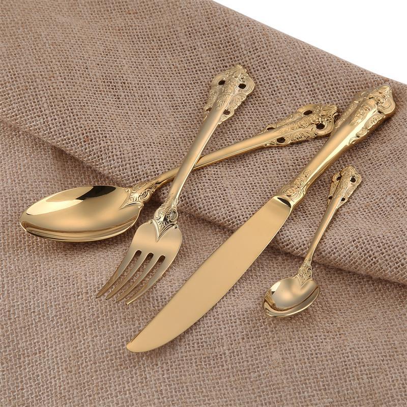 10pcs golden cutlery set  (2)