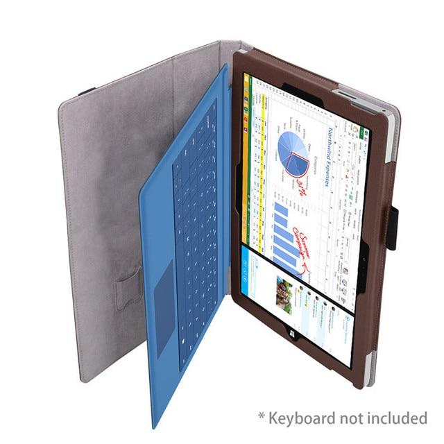 """Nuevo 2015 de la cubierta de cuero del caso del soporte para microsoft surface 3 10.8 """"tablet, 11 Colores en la Acción + Protector de Pantalla Envío Gratis"""