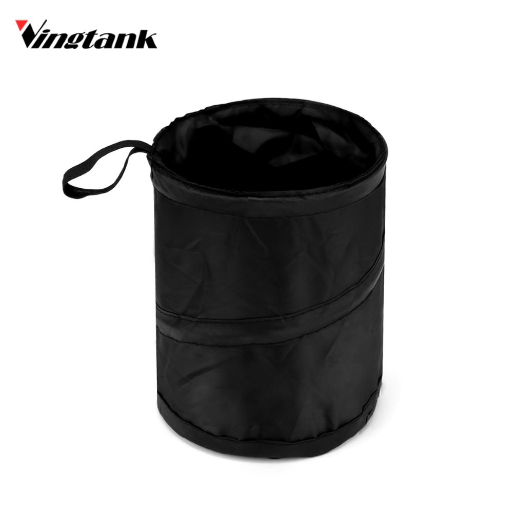 Garbage Bin Us 4 57 Wastebasket Trash Can Litter Container Car Auto Garbage Bin Bag Waste Bins Household Cleaning Tools Accessories In Car Trash From