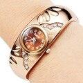 Venda quente rose pulseira relógio de ouro relógios de pulso das mulheres relógios de luxo de moda senhoras relógio relógio montre femme relogio feminino