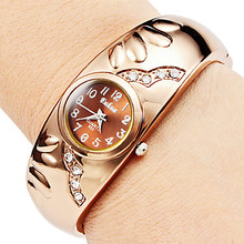fashion rose gold women's watches bracelet