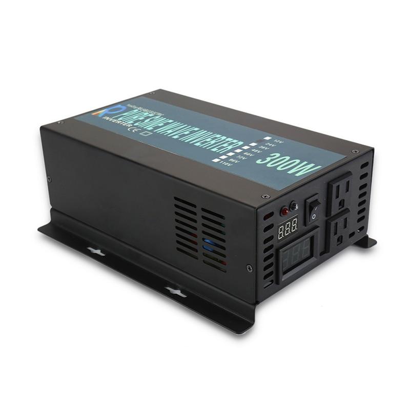 Pure Sine Wave Power Inverter 300Watt 12V DC to 220V AC Solar Generator Inverter Converter Solar System 12V/24V/48V to 120V/220VPure Sine Wave Power Inverter 300Watt 12V DC to 220V AC Solar Generator Inverter Converter Solar System 12V/24V/48V to 120V/220V
