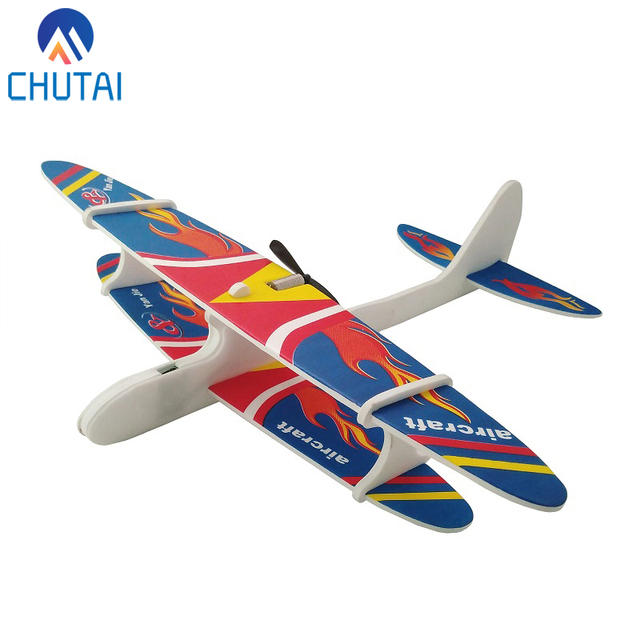 US $4 74 5% OFF|2018 New Design Foam Aircraft Capacitor Electric Glider  Model Plane Hand Launch Throwing Aircraft DIY Child Airplane 28*30CM-in
