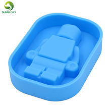 Silicone Robot Ice Mold Cream Tools Color Blue Tubs Cake