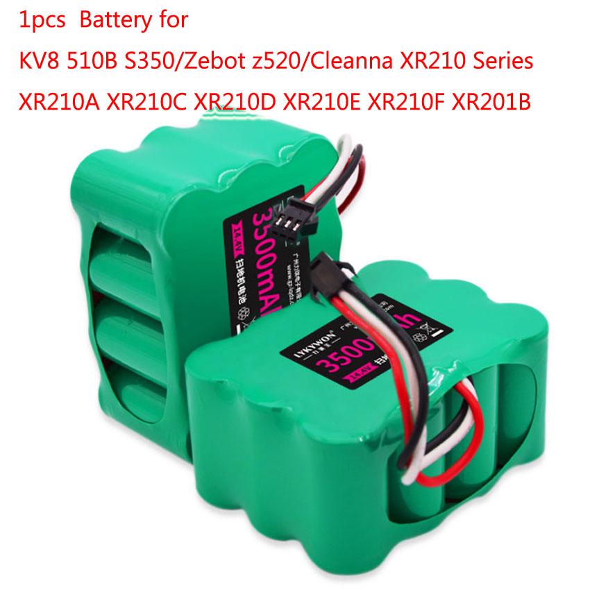 1pcs KV8 14.4v 3500mAh Ni-mh Vacuum Cleaner Battery for KV8 Cleanna XR210 series XR210A XR210C XR210D XR210E XR210F XR201B