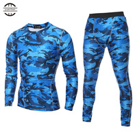 YELbrand High Quality Men S Printing Sport Set Quick Dry Fitness Tights Polyester Long Sleeve Shirt