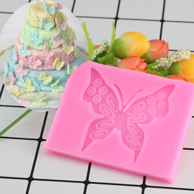 Butterfly Shaped Fondant Cake Mold Silicone Mold Soap Mould Bakeware Baking Cooking Tools Sugar Cookie Jelly Pudding Decor