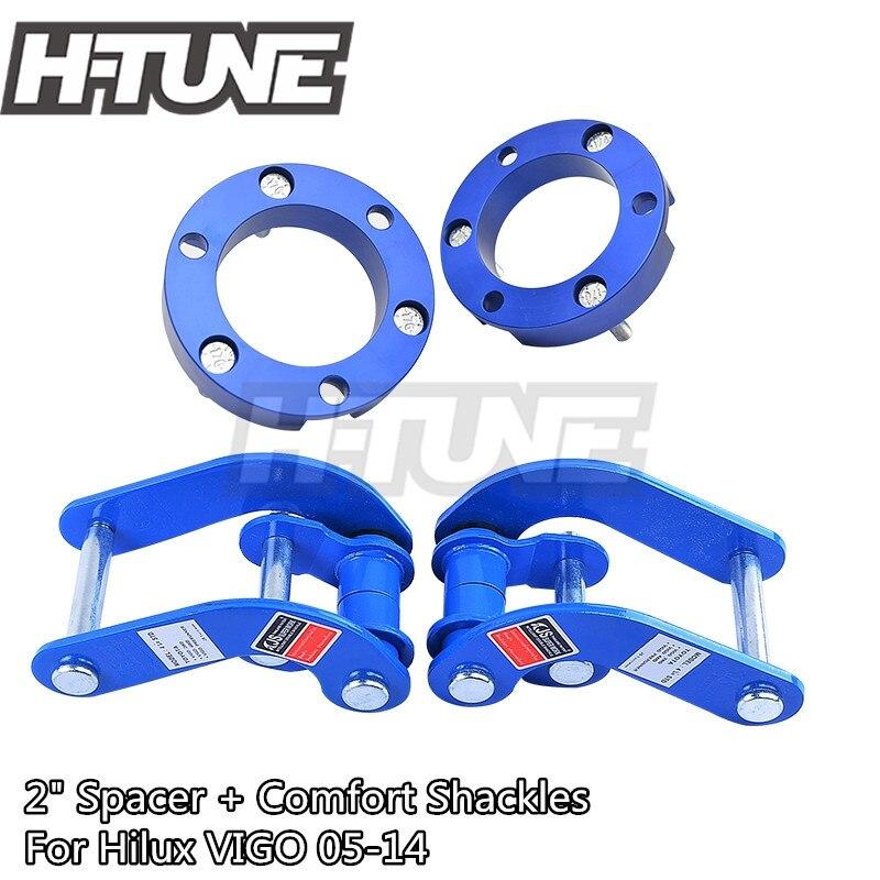 H-TUNE 4x4 Accesorios 25mm entretoise avant et confort arrière g-manille Kits de levage 4WD pour Hilux Vigo 05-14