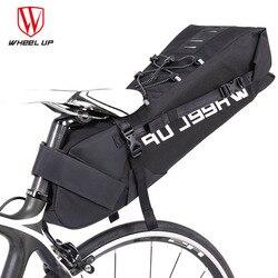 Wheel Up Rainproof 10L MTB torba na rower siodełko rowerowe tylne siedzenie wodoodporna torba do przechowywania akcesoria rowerowe można umieścić Taillight