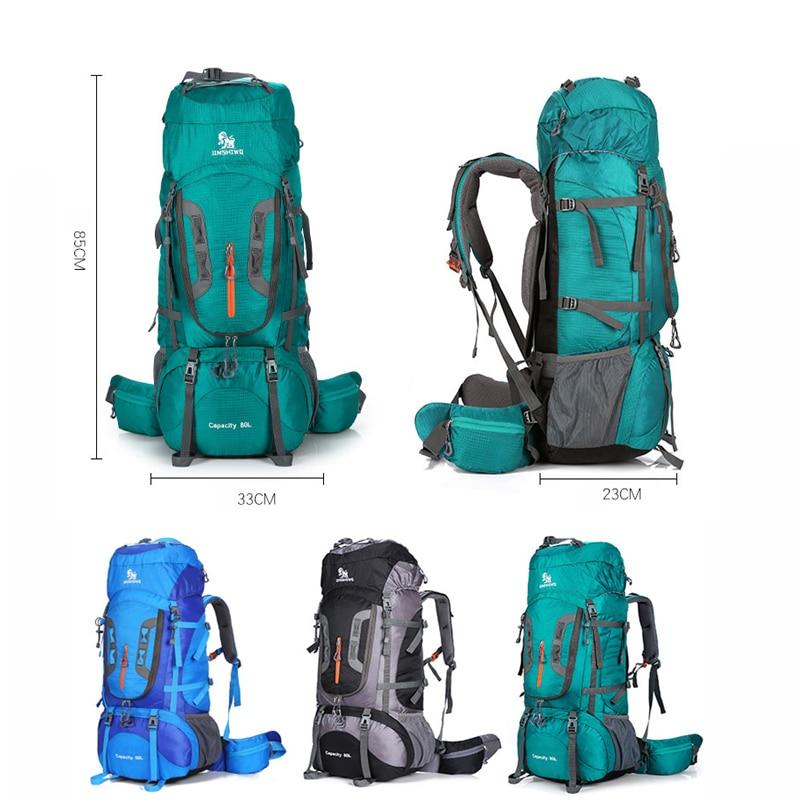80L Waterproof Travel Backpack Men 2018 Camping Hiking Backpacks Outdoor Camping Equipment Sport Backpack Waterproof Bag Bags  1
