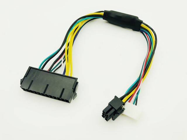 ATX 24pin to Motherboard 2-ports 6pin Adapter PSU Power Supply Cable Cord for HP Z220 Z230 SFF Mainboard Server Workstation 30cm