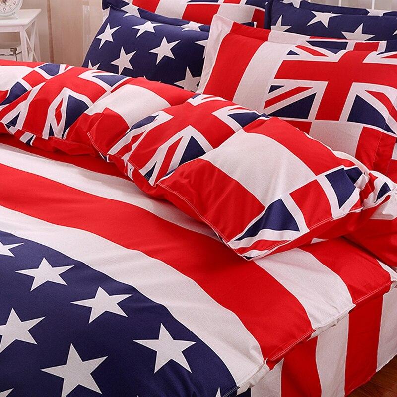 drap housse usa Home Stars Stripes USA Flag 3Pcs Bedding Sets Bedclothes Set Bed  drap housse usa