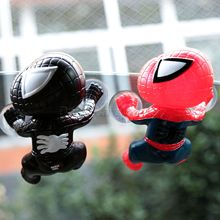 Car Styling Cute Sticker Climbing Spider Man Suction Cup Doll Toy 360 Degree Rotating Decoration Accessories Black/Red
