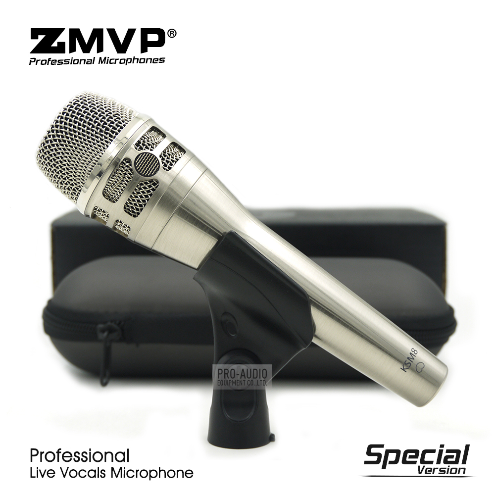 Special Edition KSM8 Professional Live Vocals KSM8N Nickel Dynamic Microphone Karaoke Super-Cardioid Stage Performance Mike Mic