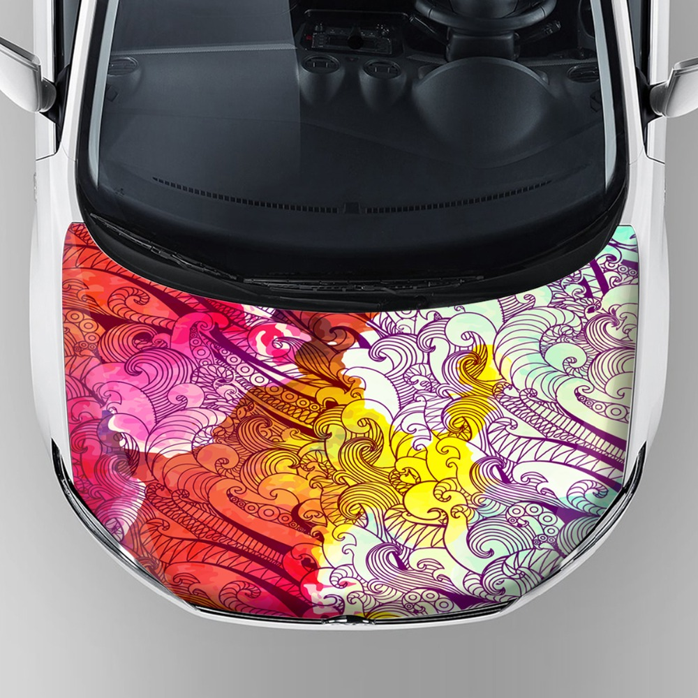 2017 new design rainbow film for car body skin protection hood ...