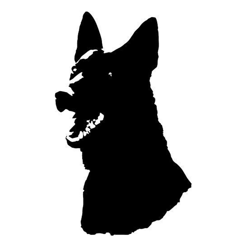 9.5*15.5CM German Shepherd Dog Car Sticker Decal Funny Dog Car Styling Accessories Motorcycle Stickers C2-0506 car decals for ford focus 2017 new personality car sticker funny diy decal sticker car styling 2 color 2 pcs car accessories