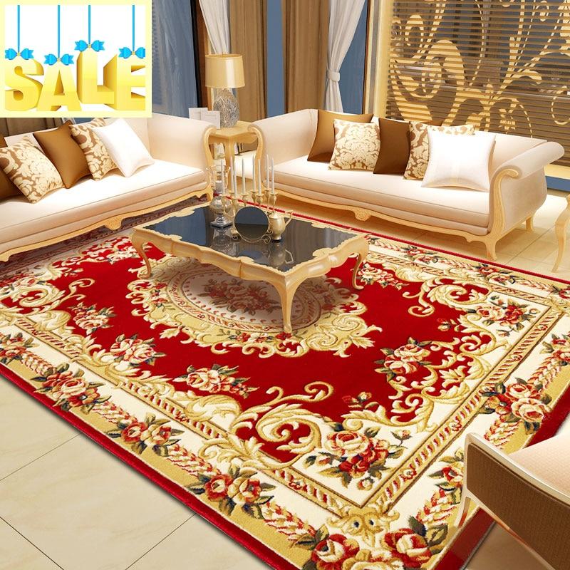 Discount tapis moderne Shaggy pour salon et grand tapis rouge De salle De bain chambre tapis tapis Tapetes De Sala