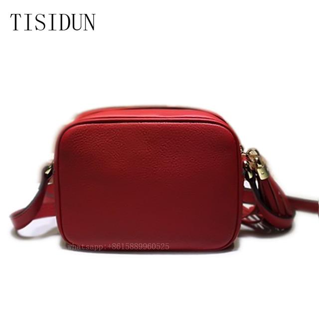 12 Colors Genuine Leather Bags for Women Famous Brand Luxury Designer Cowhide Vintage Tassel Bags Women Messenger Crossbody Bags