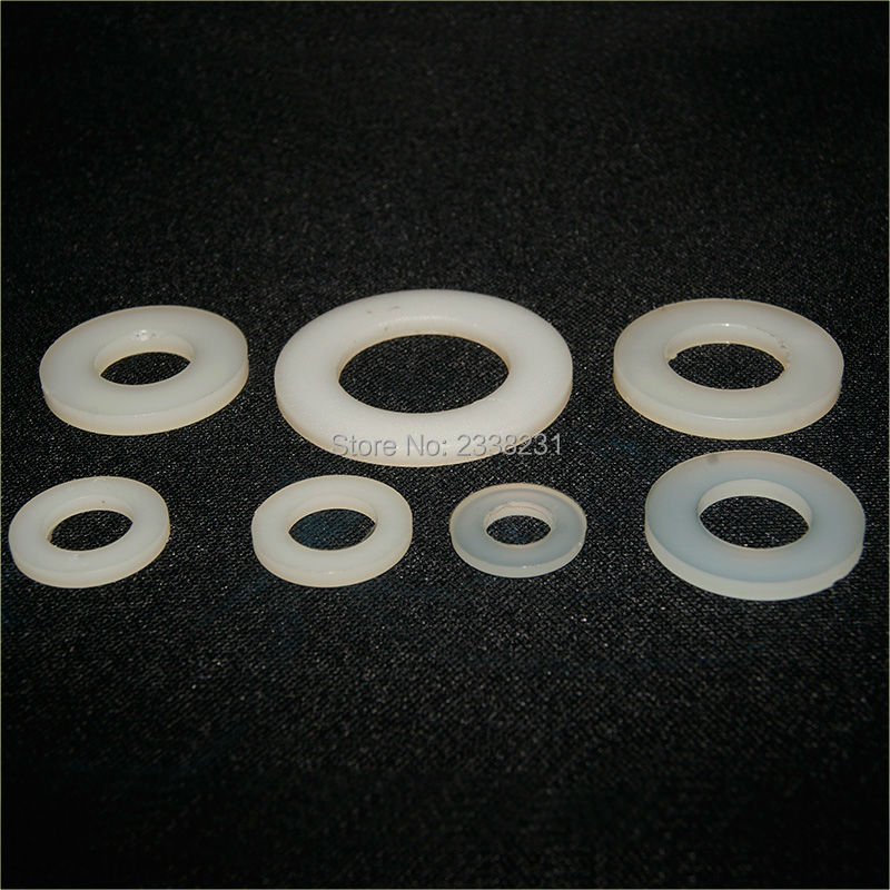Plastic Ring Spacers : M plastic nylon flat spacer washer insulation gasket