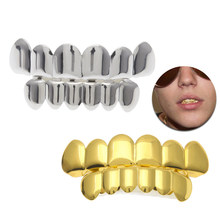 Gold Silver Top Bootom Vampire Teeth Protector Dental Grills for Halloween Christmas Party(China)